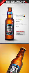 Beer Bottle Mock-Up V2 - Food and Drink Packaging by theanthnonyrich