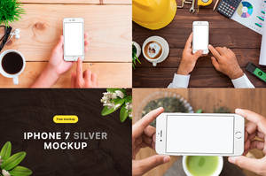 Free iPhone 7 Silver Mockup by theanthnonyrich