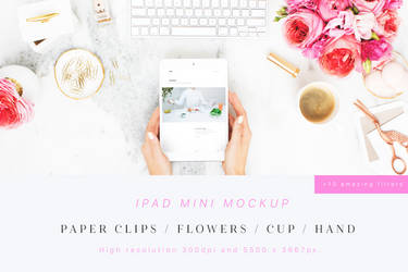 Beauty and Flowers iPad Mini Mockup by theanthnonyrich