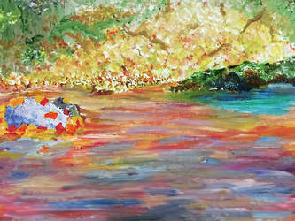 Fall Stream by MacKaylaDoesArt