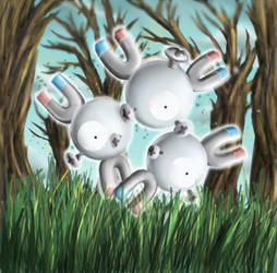 Magneton - Shining Forest art by nintendo-jr