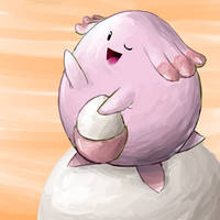 Chansey + Egg-Moon by nintendo-jr