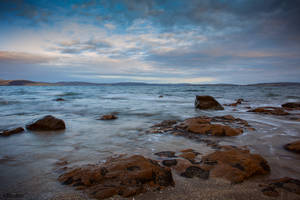 Slow Exposure: Derwent River at Sunset (2) by KittenKiss