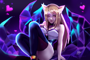KDA Ahri by Aeru-Art
