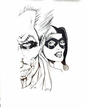 The Joker and Harley Quinn by silvermist999