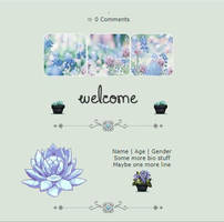 Blue Flowers F2U Non-Core Profile Code by silvermist999