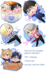 Yuri on Ice!! phone charm preorder by BeefxCake