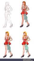 Anime Girl: Process 02 by taho