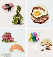 Watercolor: Hawaiian Food Series by taho