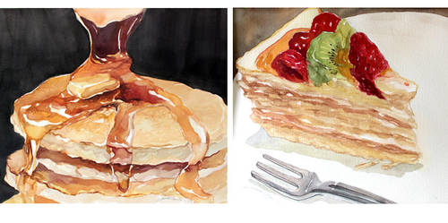 Watercolor: Cafe Sweet by taho