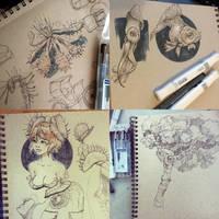 Fall Sketchbook 2014 by taho