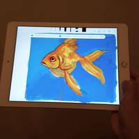 Goldfish Digital Fingerpainting Adobe Sketch app by taho