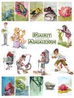 Dart Through the Amazon CardGame by taho