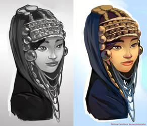 Akha Tribal Girl by taho