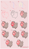 squishy paws | tutorial ( desc! ) by pawkiiu