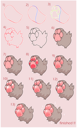 squishy paws | tutorial ( desc! ) by pawkiiu