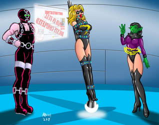 Ms. Marvel caught by Grimbor by ARNie00