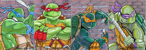 TMNT Sketchcards by DreadedDinosaur