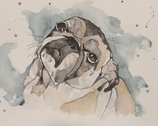 Pug Feels Sad by mybuttercupart