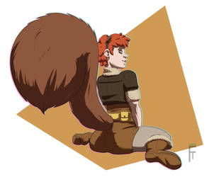 Squirrel Girl by fire-tisane