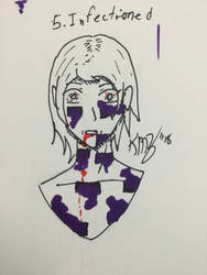 Inktober Day 5 - Infected by Ortello