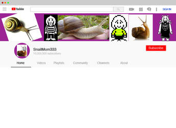 Snailmom333 Youtube Page by Ortello
