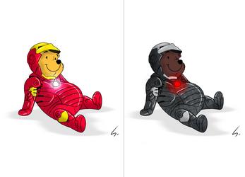 Iron Pooh // Winnie Machine by Spenot