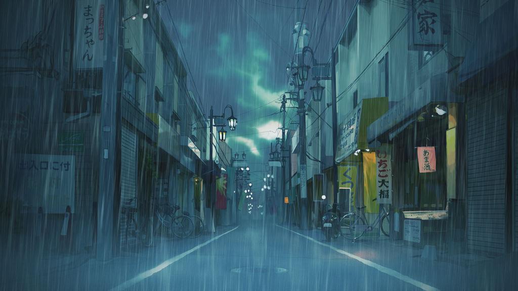 Rainytown Bg by Akatukiart