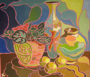 Vase and violet by cahelud