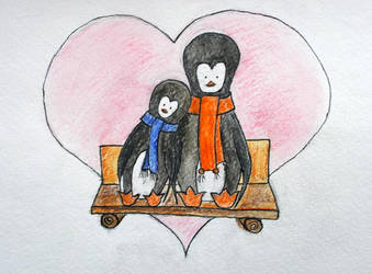 Penguins and love by cahelud
