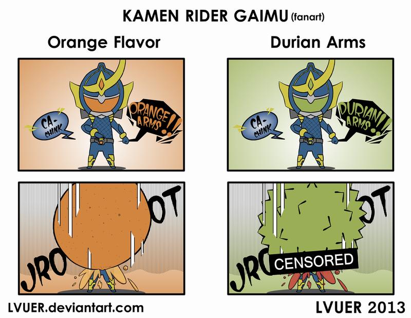 Kamen Rider Gaimu - Dangerous Arms by LVUER