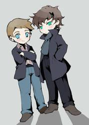 Sherlock n John by airmi