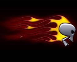 flaming skull black 1280x1024 by jbensch