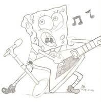 Guitaring Spongebob by spongefox