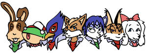 Starfox pilots by Pip-the-Fetraweasel