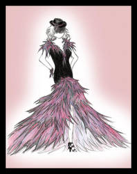 Experimental evening gown by StingingPistol