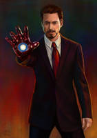 Tony Stark by slugette