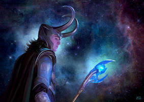 Loki and his Glow Stick of Destiny UPDATED by slugette