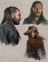 Black Sails Sketches by slugette
