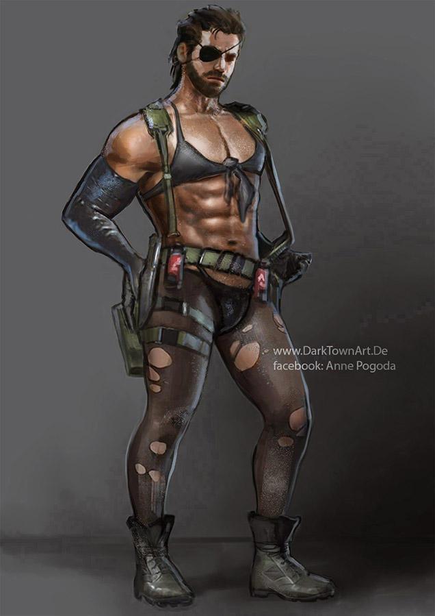 Metal Gear Solid V: Big Quiet Boss XD by ZombieSandwich