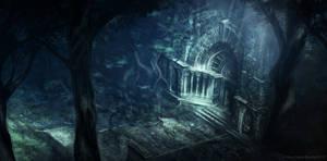The Titan Wood Shrine by JoshEiten