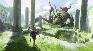 Fallen Titan by JoshEiten