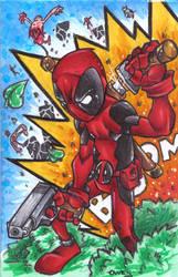 Bic Pen Deadpool Colored by Dreekzilla