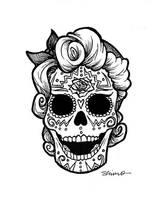 Rockabilly Skull by JStiletto
