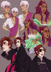 The babes of Arcana by jiromeri