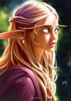 Elf Priestess by Nixri