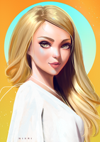 Stylized Portrait #18 by Nixri