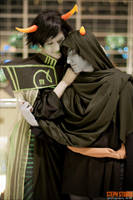 Katsucon 2012: Mother and Son by skwinkography
