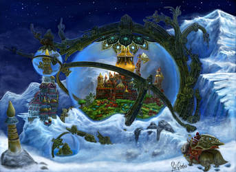 Steampunk ice city by YanQuelais