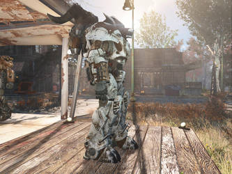 Fallout 4: The Eisenwolf power armor (WIP) by WarMocK